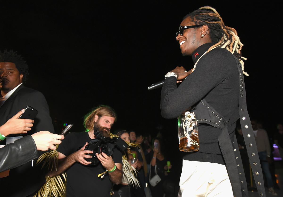 Rapper Young Thug performs at L'Eden by Perrier-Jouët
