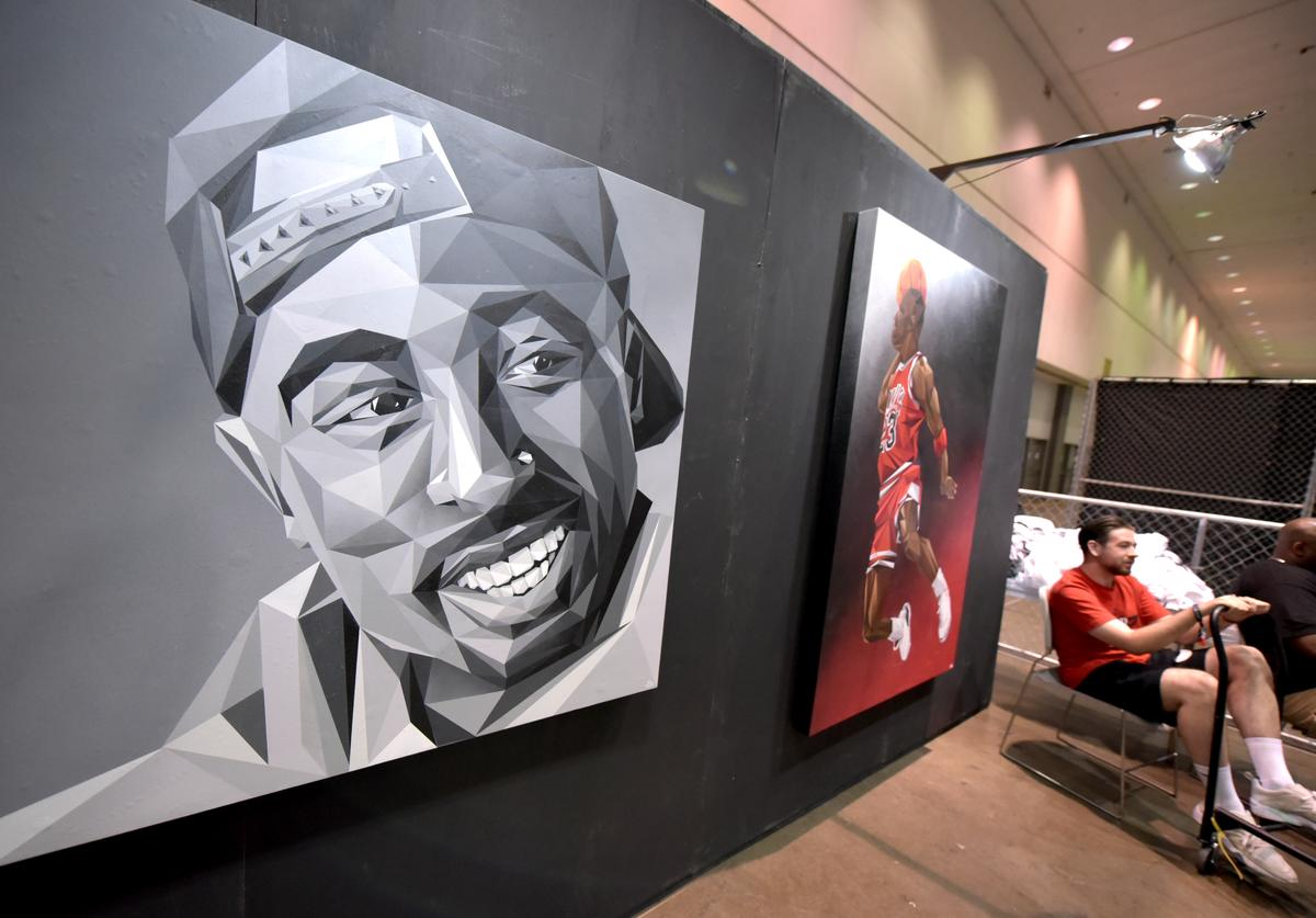 Artwork displayed at Kicksperience during the 2017 BET Experience