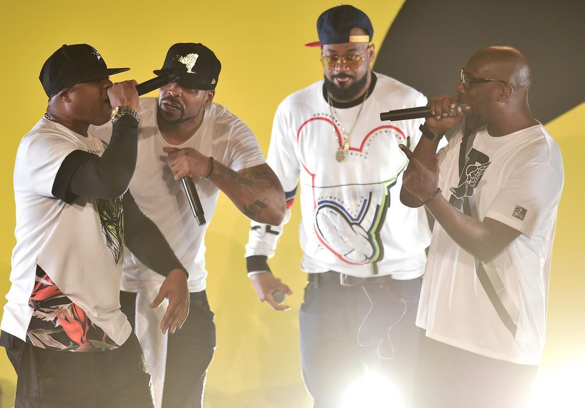 Cappadonna, Method Man, Ghostface Killah, and Inspectah Deck perform live during Tribeca TV: Wu-Tang Clan: Of Mics And Men at the 2019 Tribeca Film Festival at Beacon Theatre on April 25, 2019 in New York City.