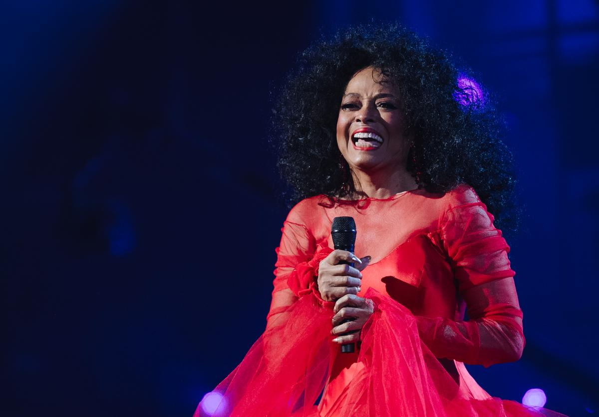 Diana Ross performs onstage at the 61st annual GRAMMY Awards