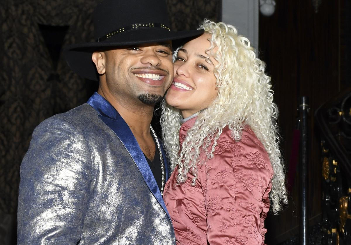 "Raz B (L) and Kallee Brookes attends the Los Angeles Premiere of HBO's Documentary Film ""United Skates"""