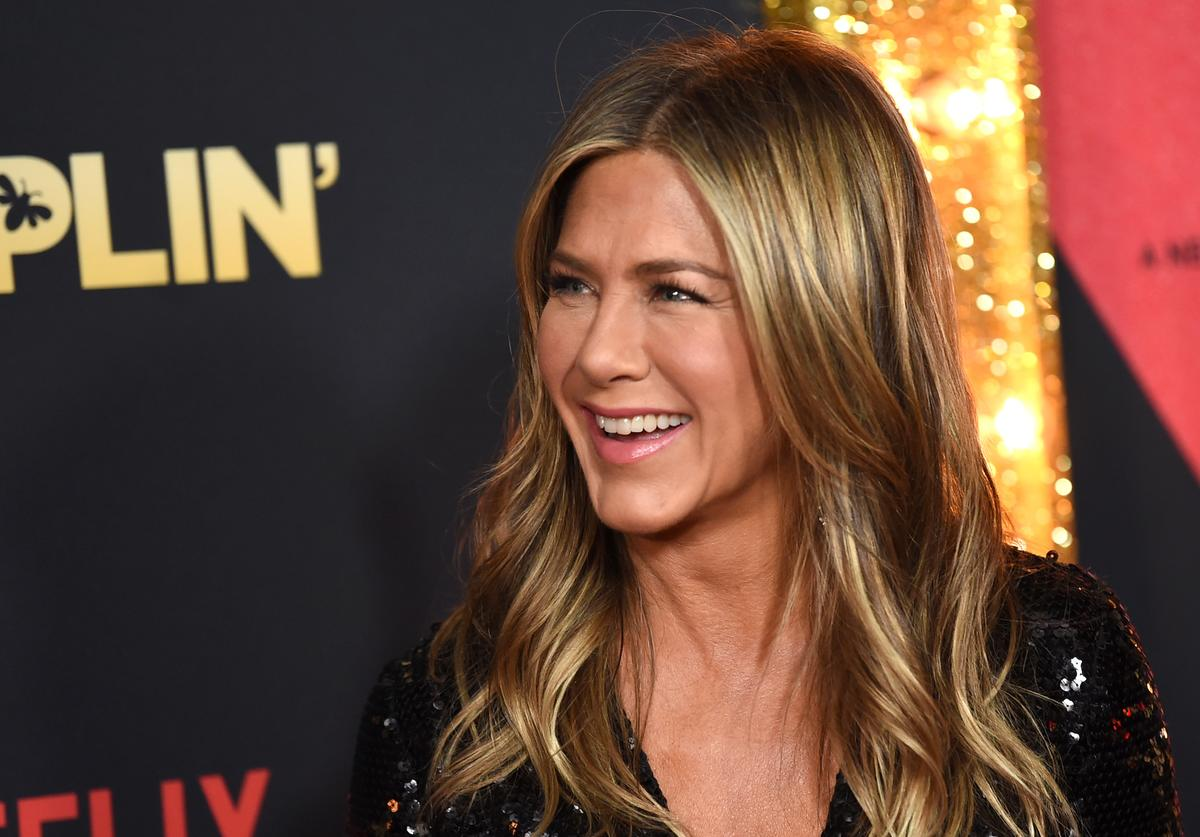 "Jennifer Aniston arrives at the premiere of Netflix's ""Dumplin'"" at the Chinese Theater"