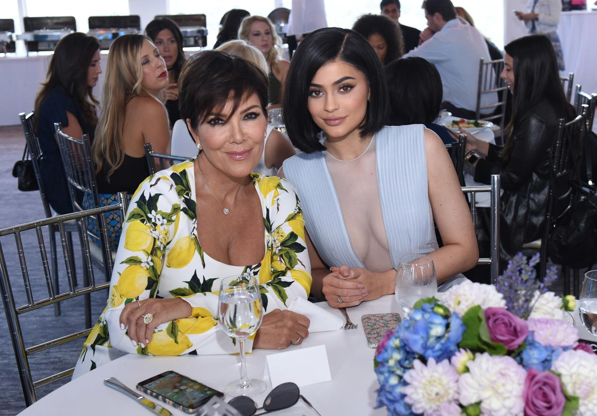 Kylie and mom Kris Jenner attend SinfulColors on July 14, 2016