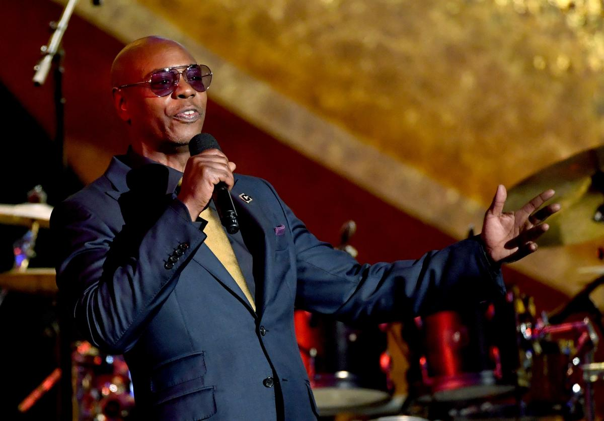 Dave Chappelle speaks onstage at Q85