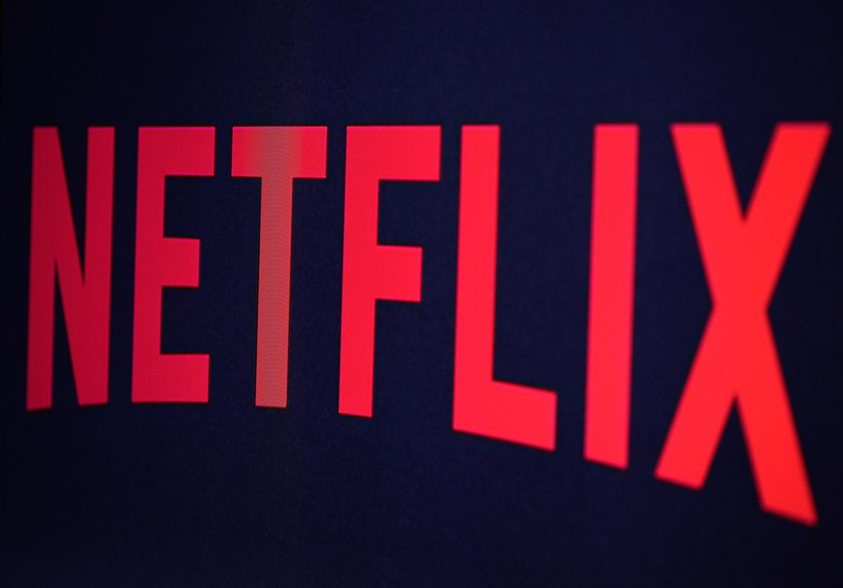 Netflix logo is seen on September 19, 2014 in Paris, France
