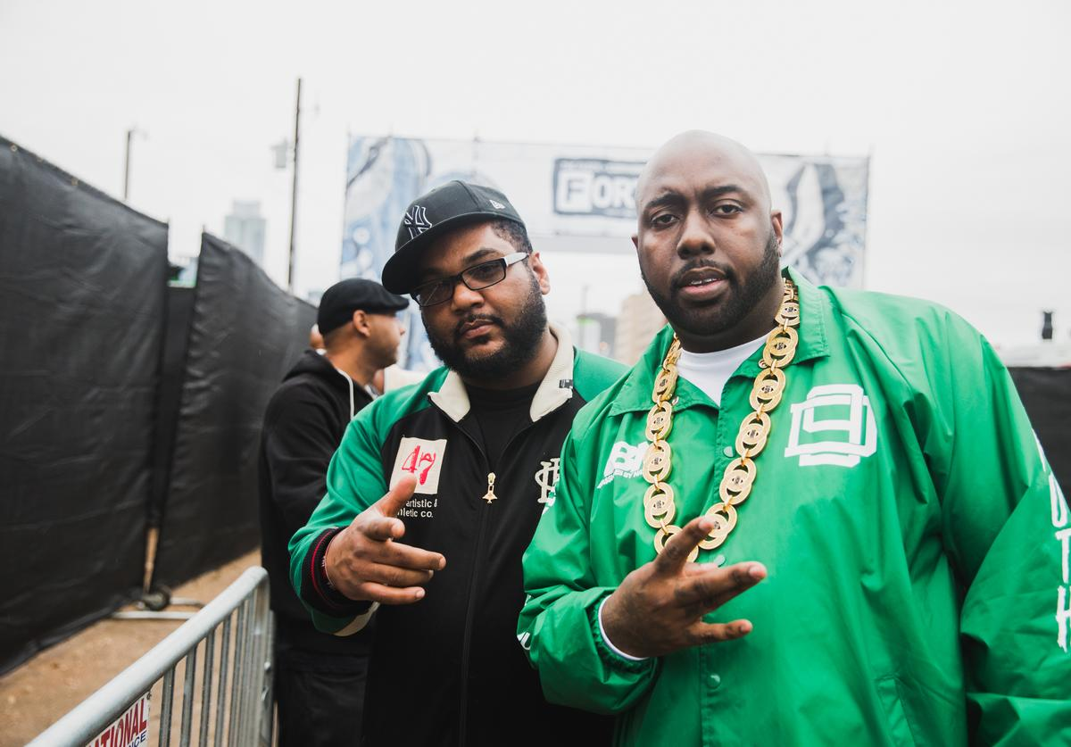 Maseo and Trae the Truth attend the FADER FORT