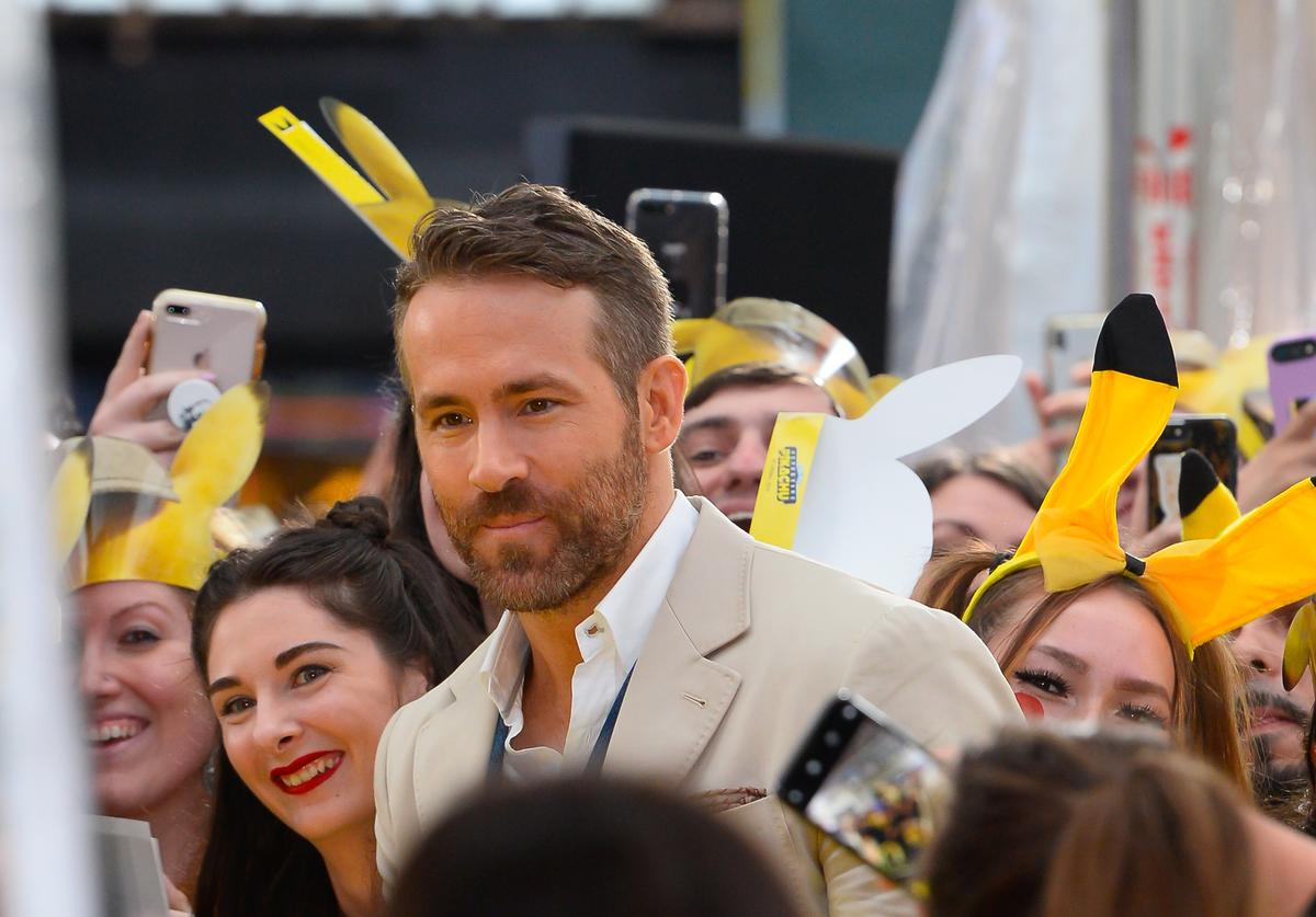 Ryan Reynolds attends the 'Pokemon Detective Pikachu' U.S. Premiere at Times Square on May 2, 2019 in New York City