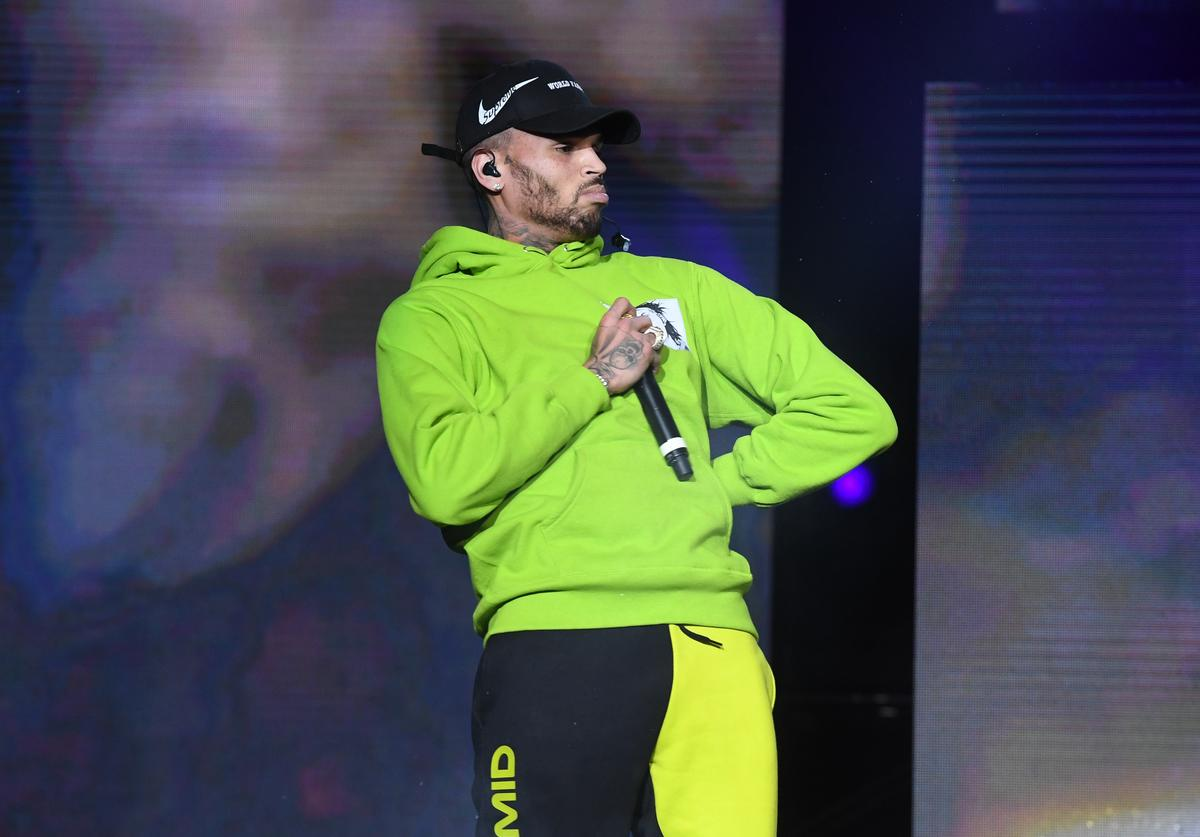 Chris Brown performs onstage at 3rd Annual V-103 Winterfest Concert at Philips Arena on December 16, 2017 in Atlanta, Georgia