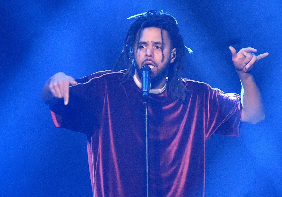 J. Cole performs onstage at J. Cole In Concert at Madison Square Garden on October 1, 2018 in New York City