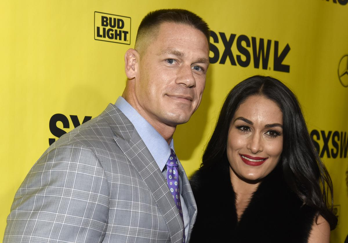 John Cena and Nikki Bella attend the 'Blockers' Premiere at the Paramount Theatre on March 10, 2018 in Austin, Texas