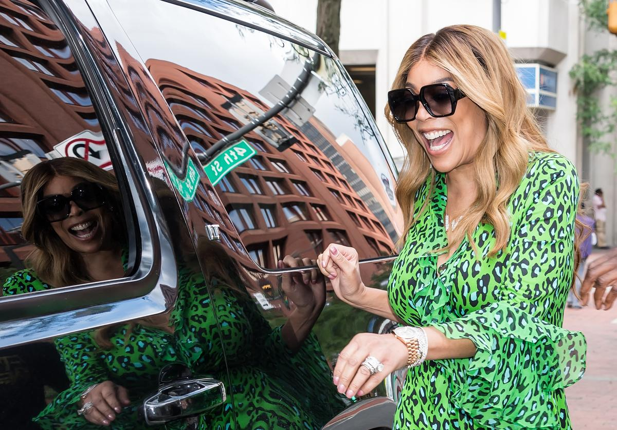 Wendy Williams is seen leaving Fox 29's 'Good Day' at FOX 29 Studios while promoting 'The Wendy Williams Season 10 Tour' on August 2, 2018 in Philadelphia, Pennsylvania