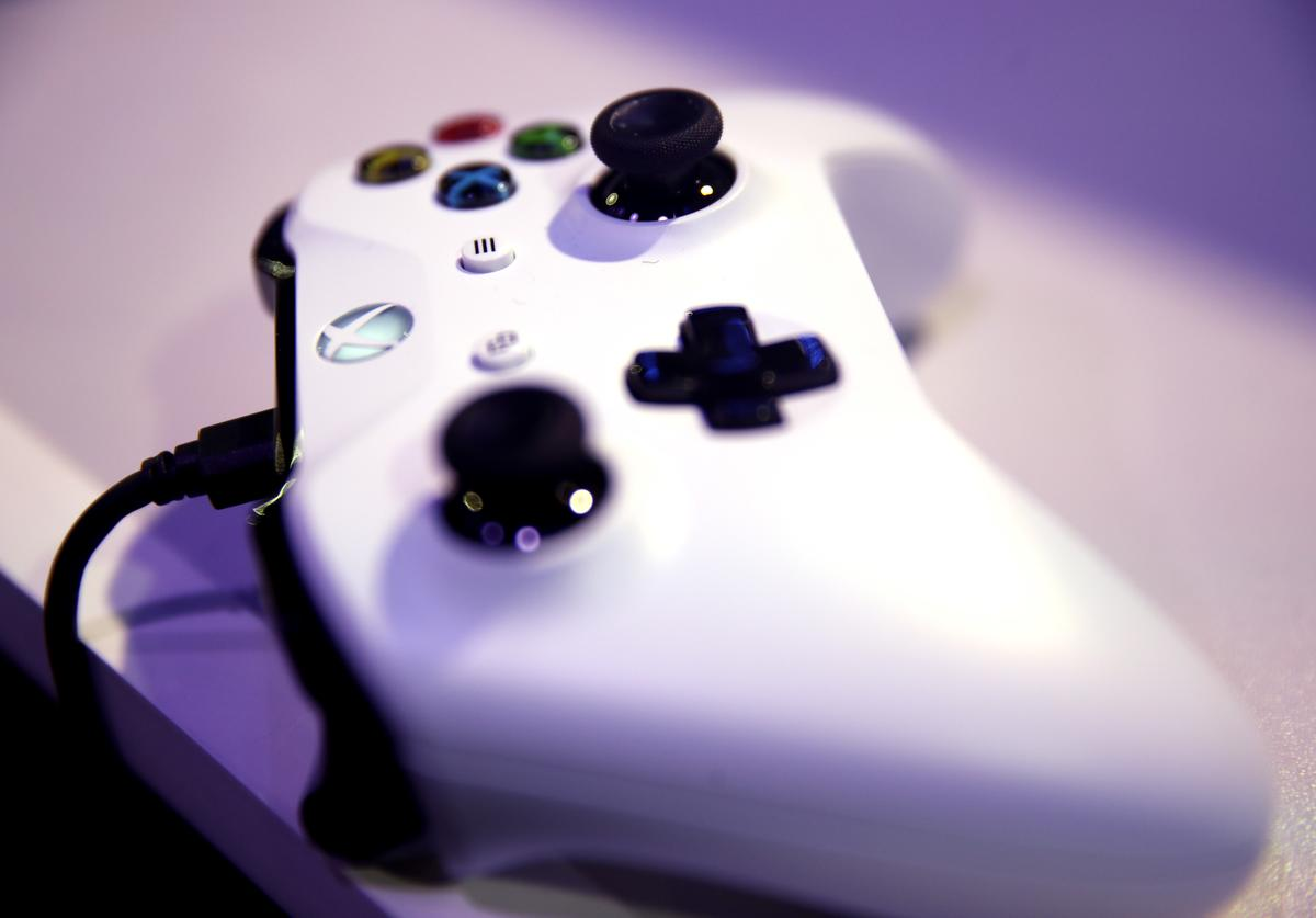 A detailed view of an Xbox One controller during day one of the 2019 ePremier League Finals at Gfinity Arena on March 28, 2019 in London, England