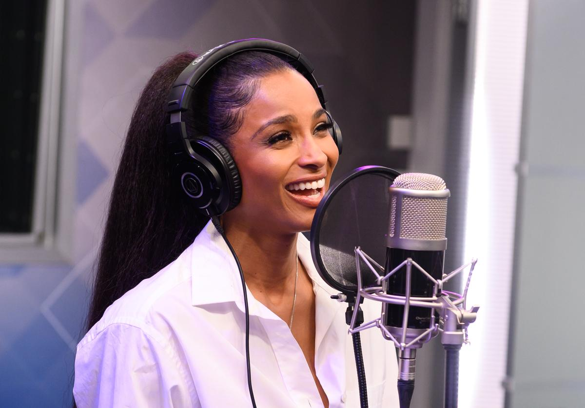 Ciara performs on SiriusXM Hits 1 at the SiriusXM Studios In New York on May 07, 2019 in New York City