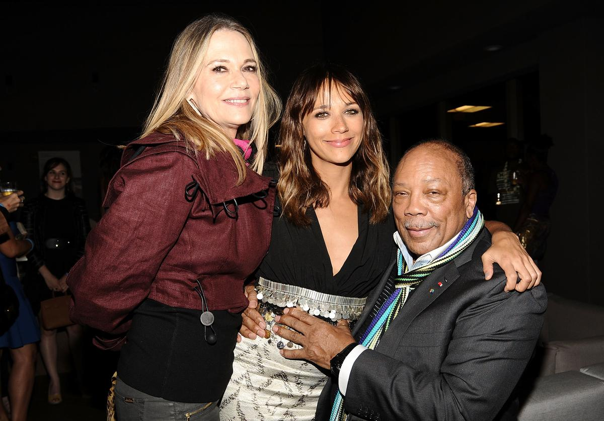 Peggy Lipton, actress Rashida Jones and musician/producer Quincy Jones attend the after party for 'Celeste And Jesse Forever