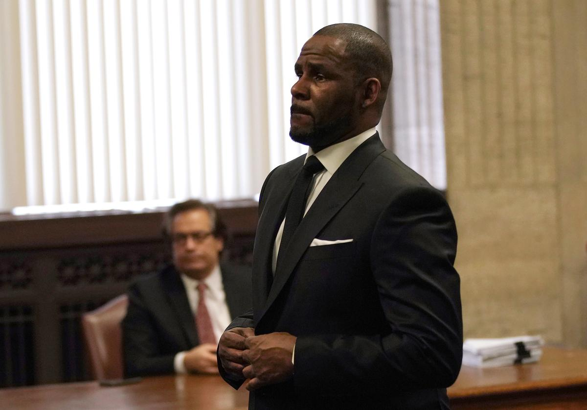 Singer R. Kelly appears in court for a hearing to request that he be allowed to travel to Dubai