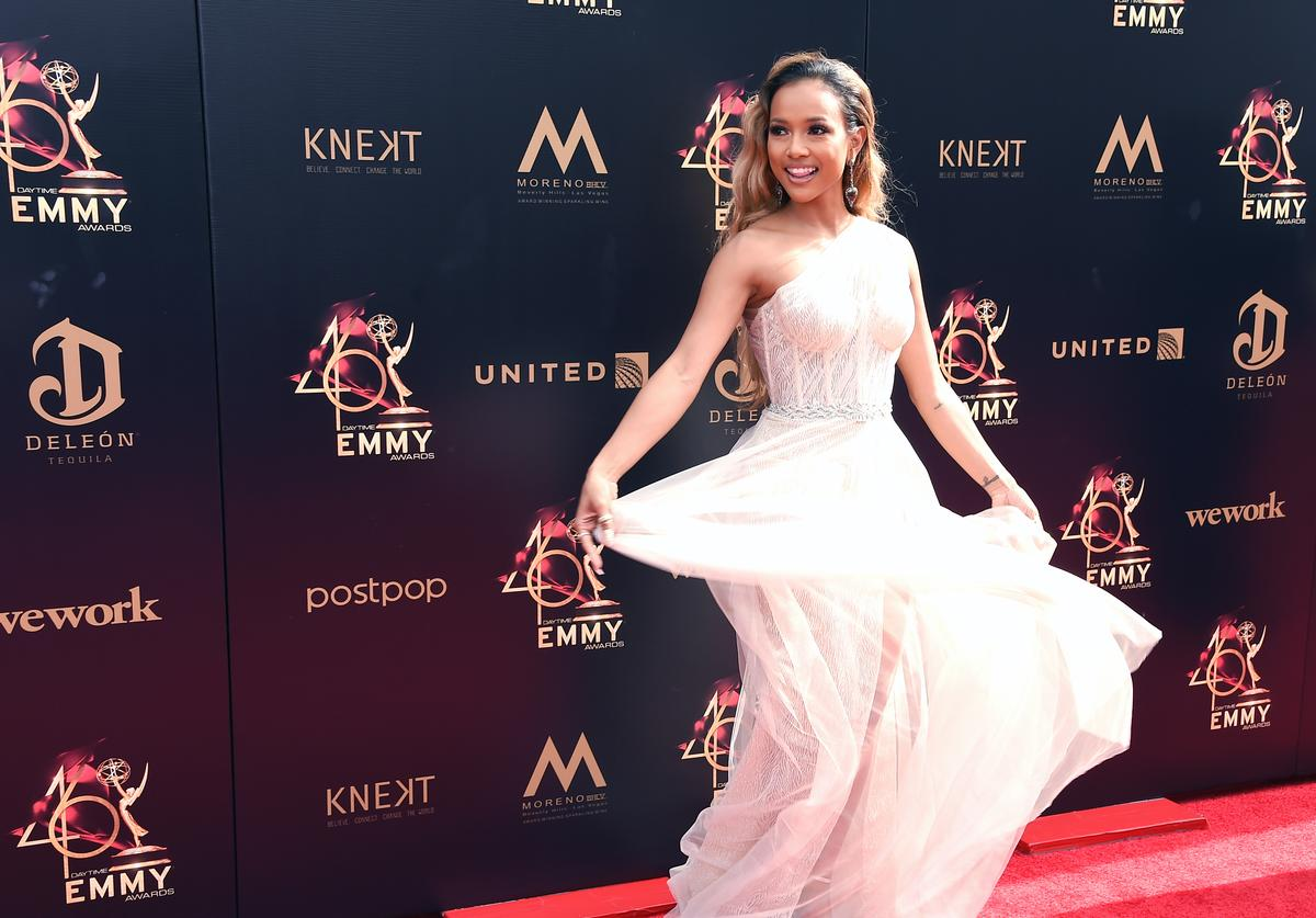 Karrueche Tran attends the 46th annual Daytime Emmy Awards
