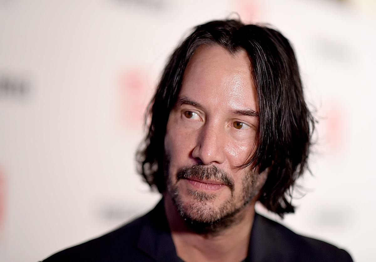 "Keanu Reeves attends the""Siberia"" New York Premiere at The Metrograph"