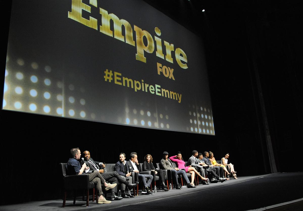 """Cast and crew of """"Empire"""" on stage at Fox's """"Empire"""