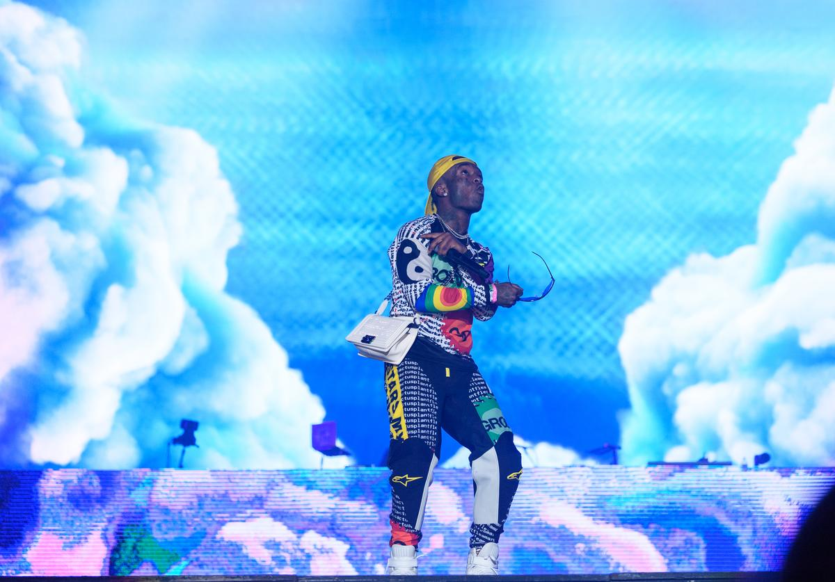 Symere Woods known by his stage name Lil Uzi Vert performs during day three of Rolling Loud at Hard Rock Stadium on May 12, 2019 in Miami Gardens, FL