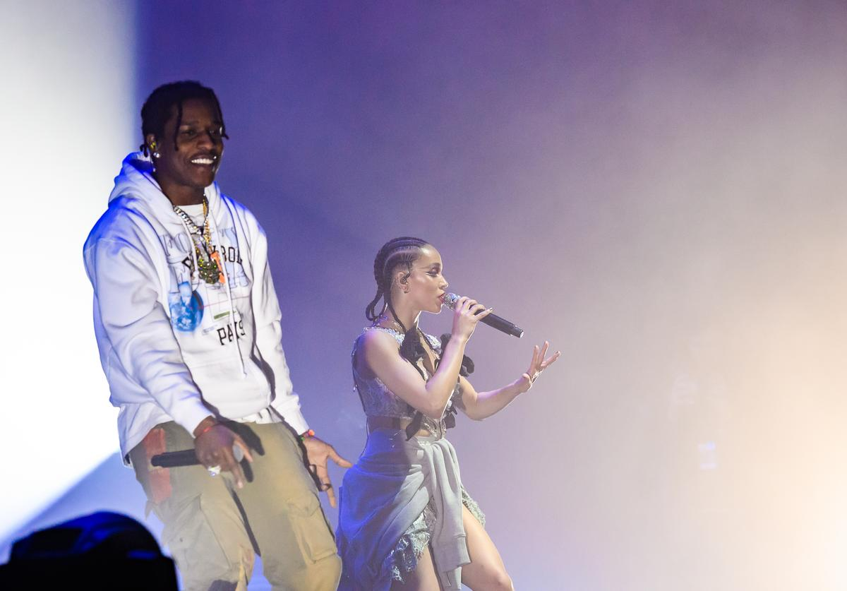 A$AP Rocky and FKA twigs perform in concert at Park Avenue Armory on May 12, 2019 in New York City.