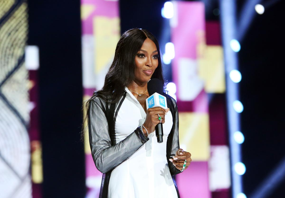 Naomi Campbell speaks onstage at WE Day California
