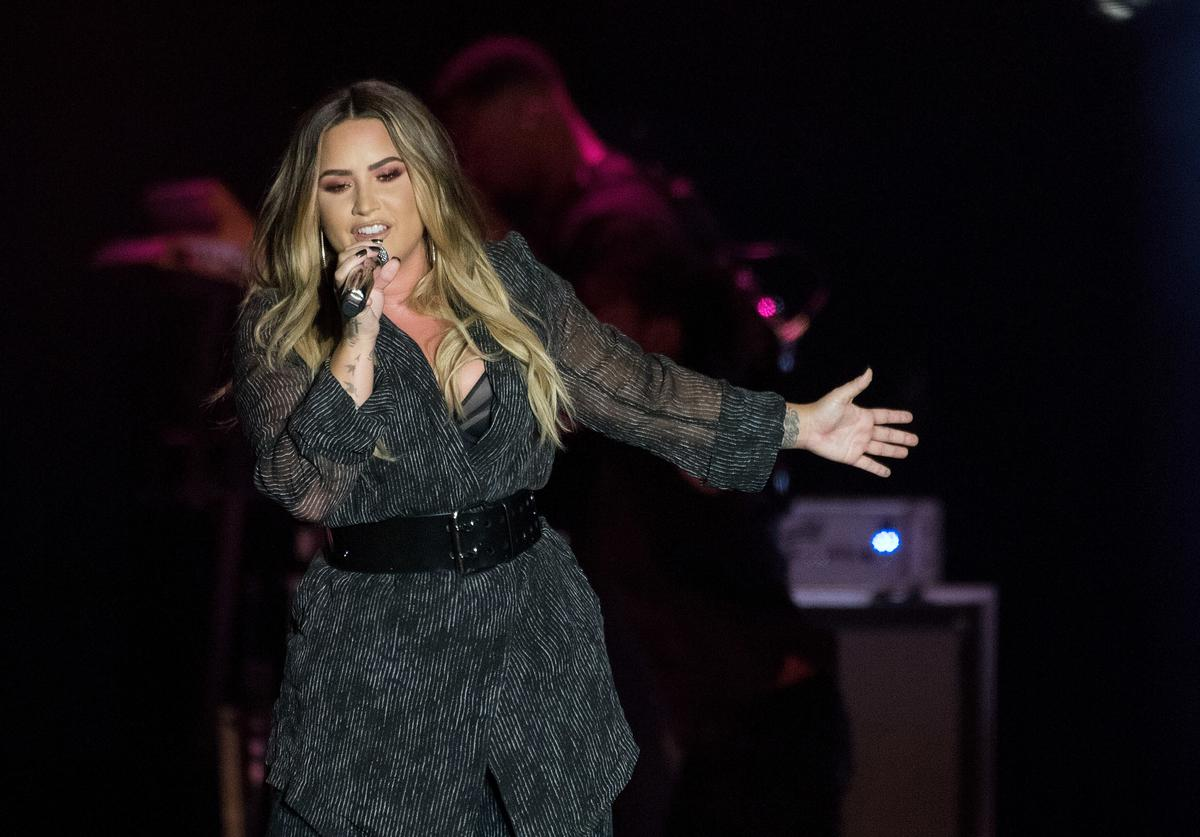 Demi Lovato performs during the 2018 California Mid-State Fair on July 22, 2018 in Paso Robles, California