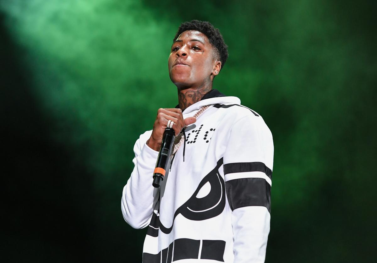 NBA YoungBoy performs during Lil WeezyAna at Champions Square on August 25, 2018 in New Orleans, Louisiana