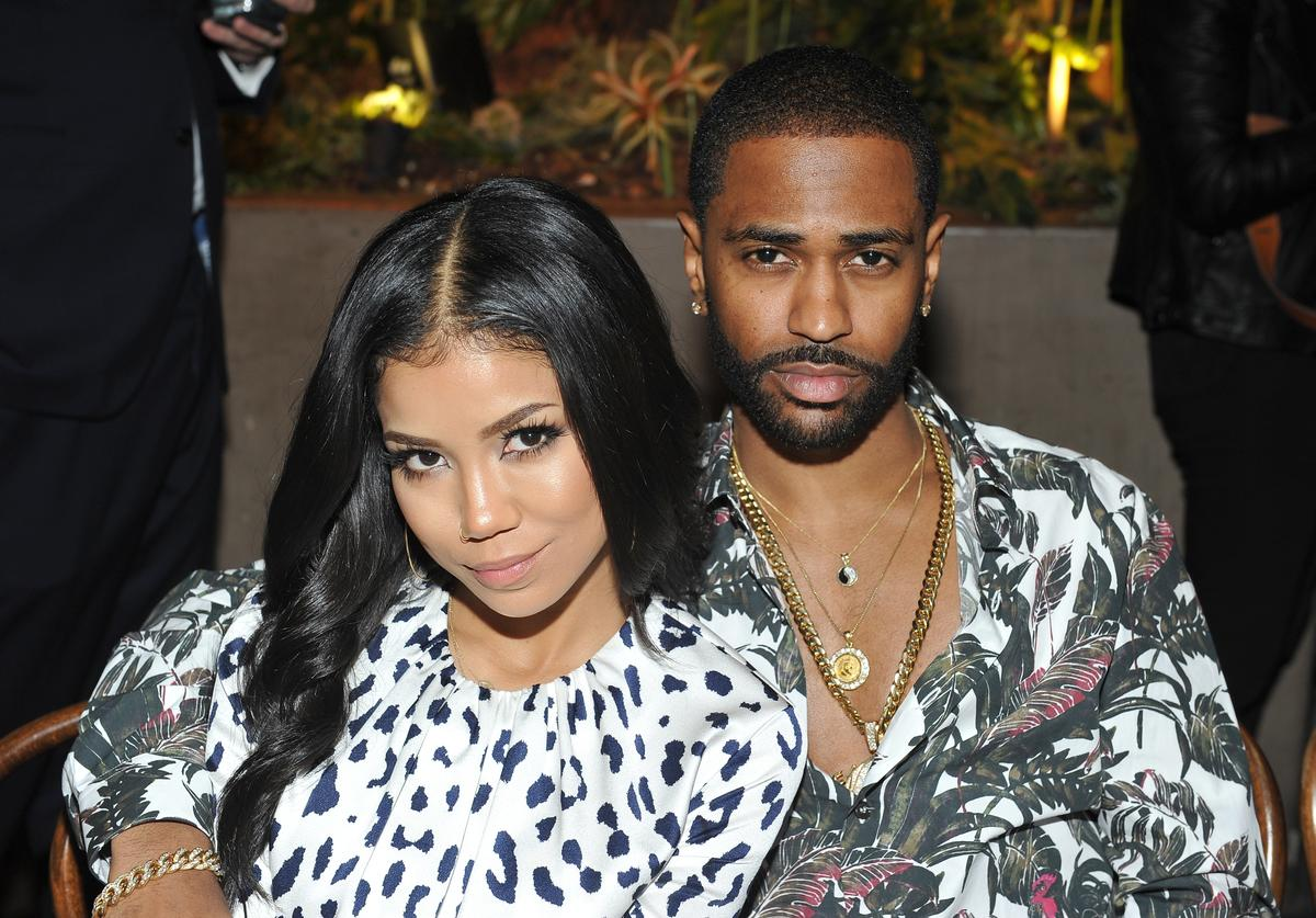 Jhene Aiko (L) and Big Sean at the Power Stylists Dinner, hosted by The Hollywood Reporter and Jimmy Choo, on March 14, 2017 in West Hollywood, California