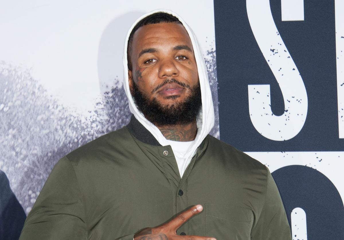 """""""The Game"""" arrives the Universal Pictures And Legendary Pictures premiere of """"Straight Outta Compton"""" on August 10, 2015 in Los Angeles, California"""