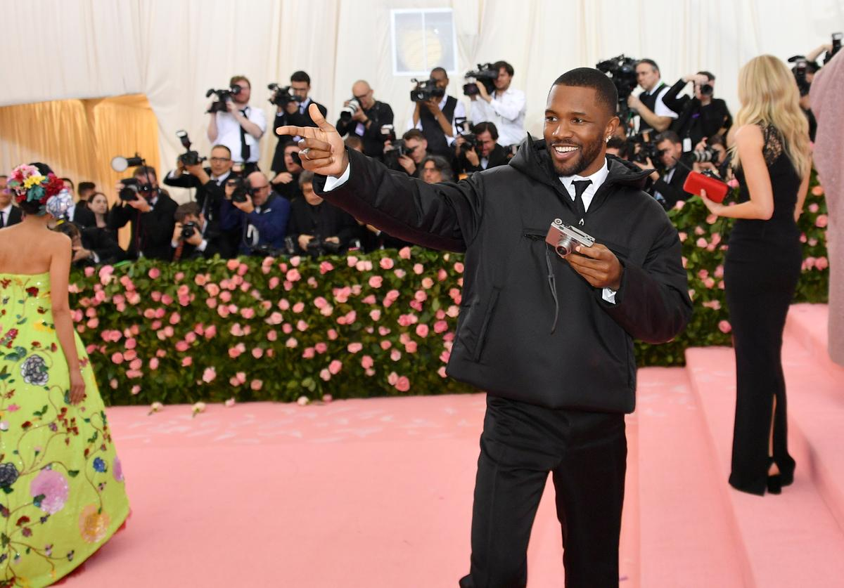 Frank Ocean attends The 2019 Met Gala Celebrating Camp: Notes on Fashion at Metropolitan Museum of Art on May 06, 2019 in New York City