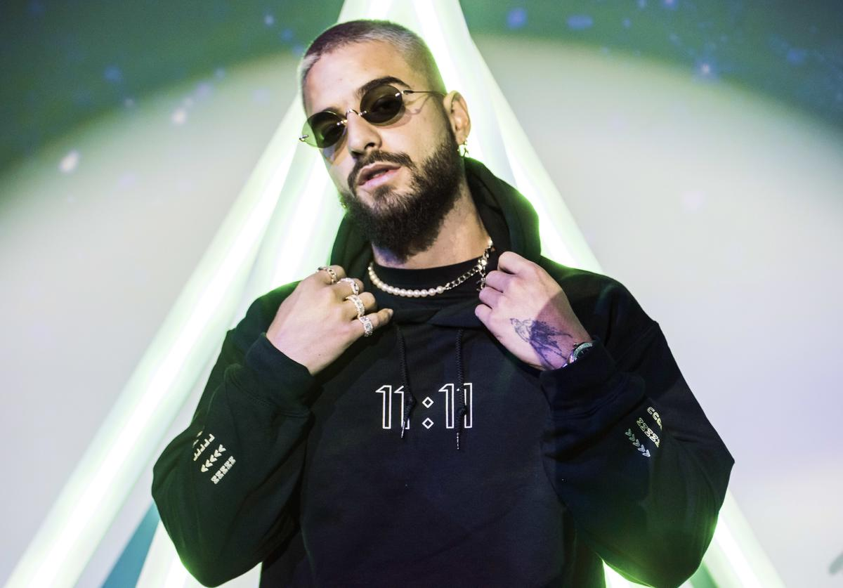 Maluma hosts fan pop-up store In New York City on May 13, 2019 in New York City