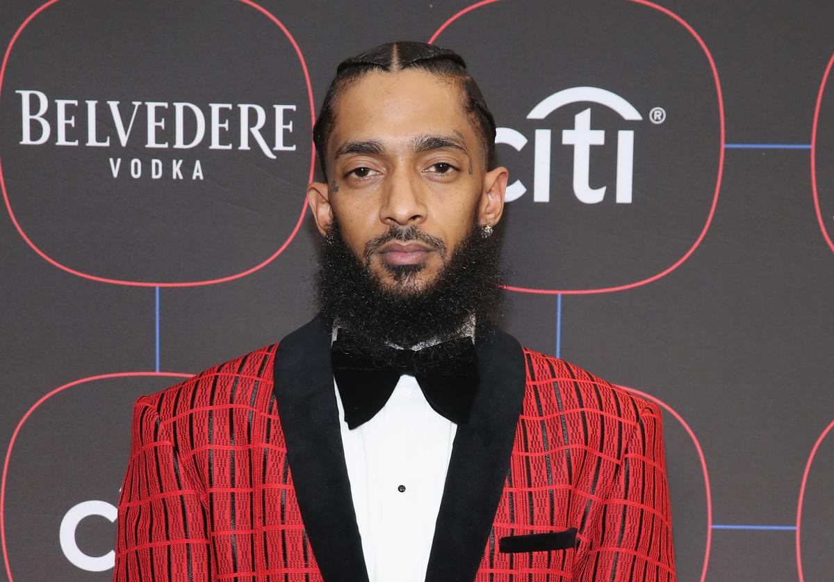 Nipsey Hussle attends the Warner Music Pre-Grammy Party at the NoMad Hotel on February 7, 2019 in Los Angeles, California.