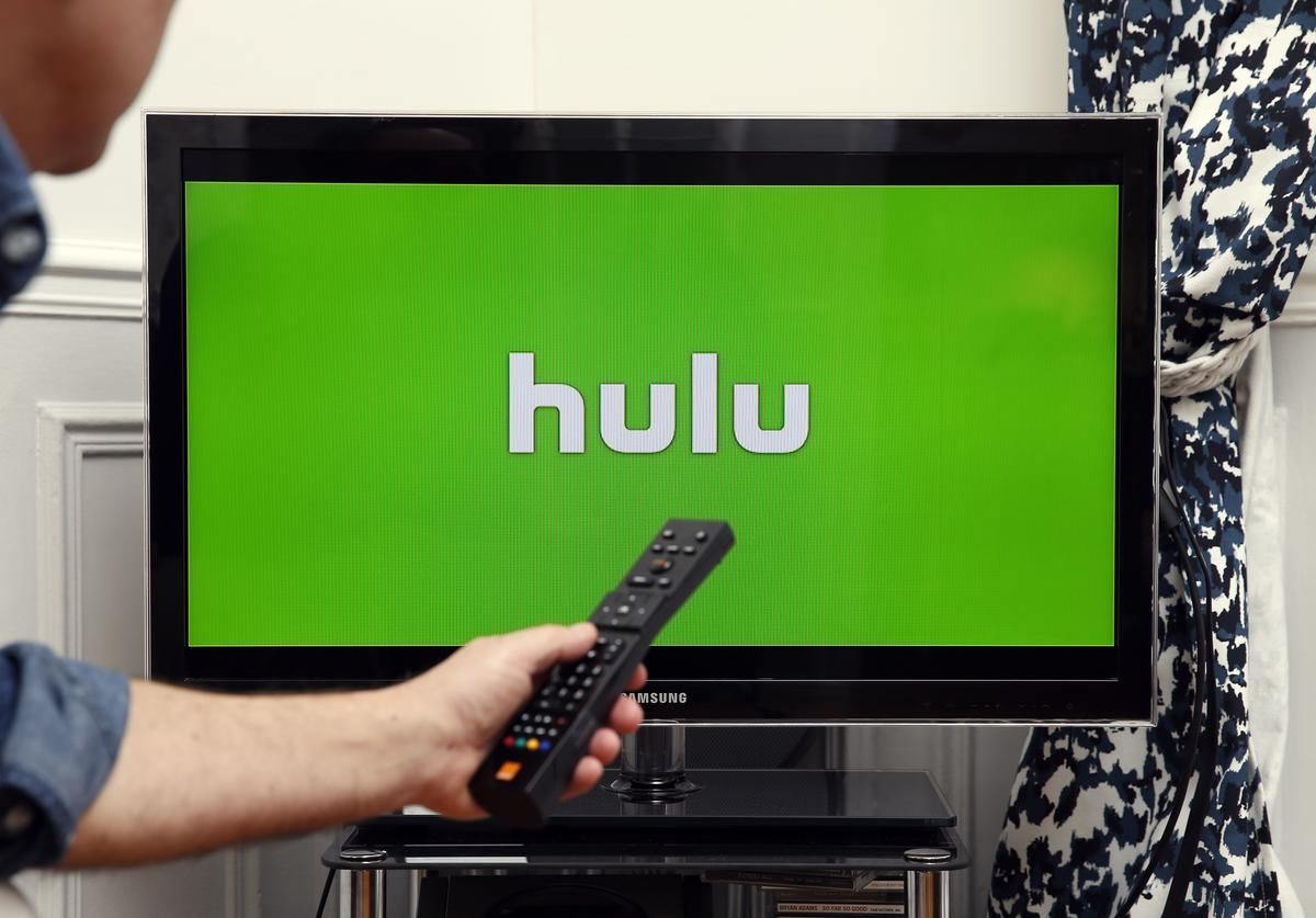 In this photo illustration, the Hulu media service provider's logo is displayed on the screen of a television on January 10, 2019 in Paris, France. Hulu, a streaming video service competing with Netflix and Amazon Prime Video, announced in a statement released on Tuesday that it has surpassed 25 million subscribers and has gained 8 million users in a year in the United States by 2018. Hulu is a US subscription-based video-on-demand website that offers movies, TV shows and music videos.