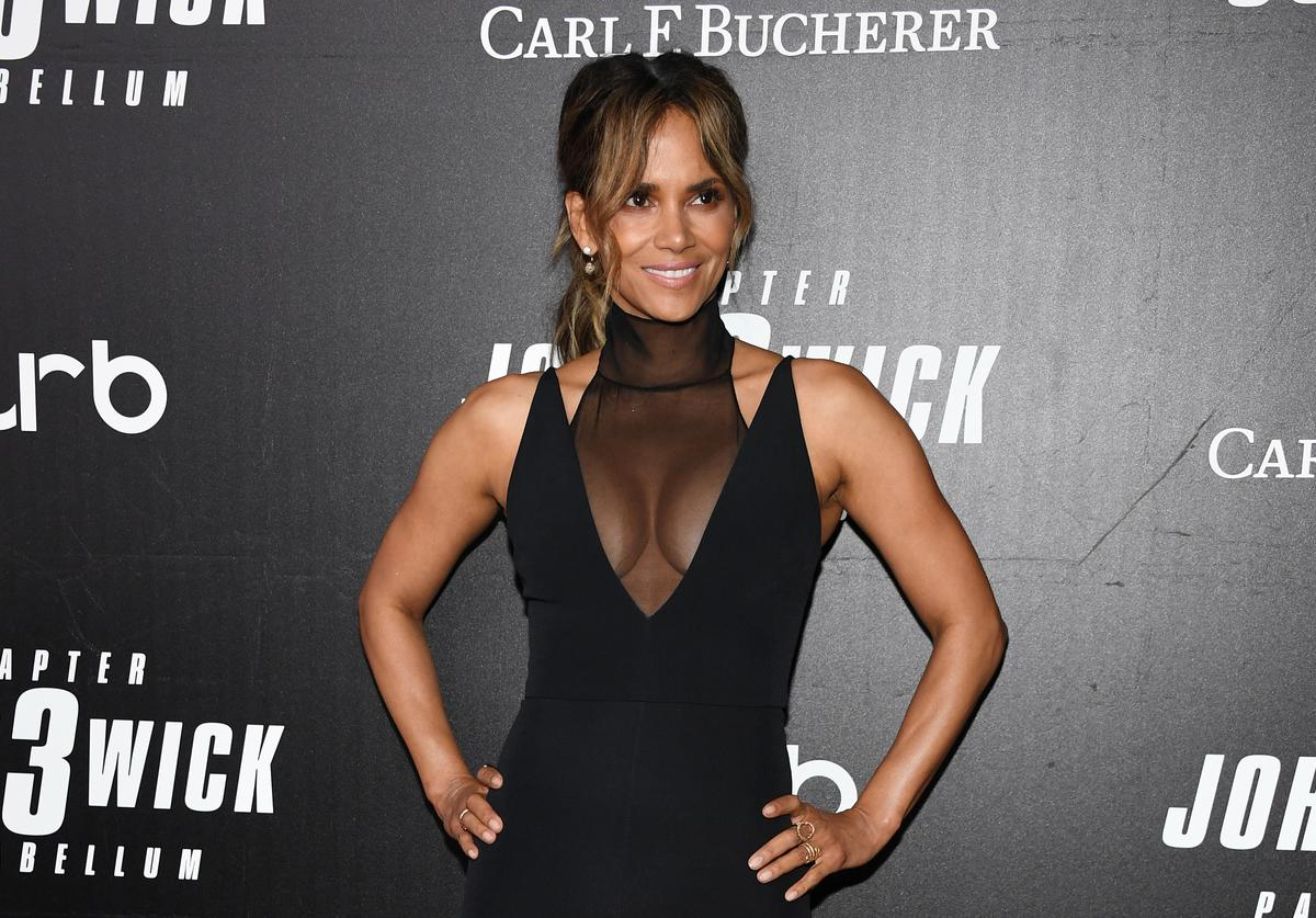 "Halle Berry attends the ""John Wick: Chapter 3"" world premiere"