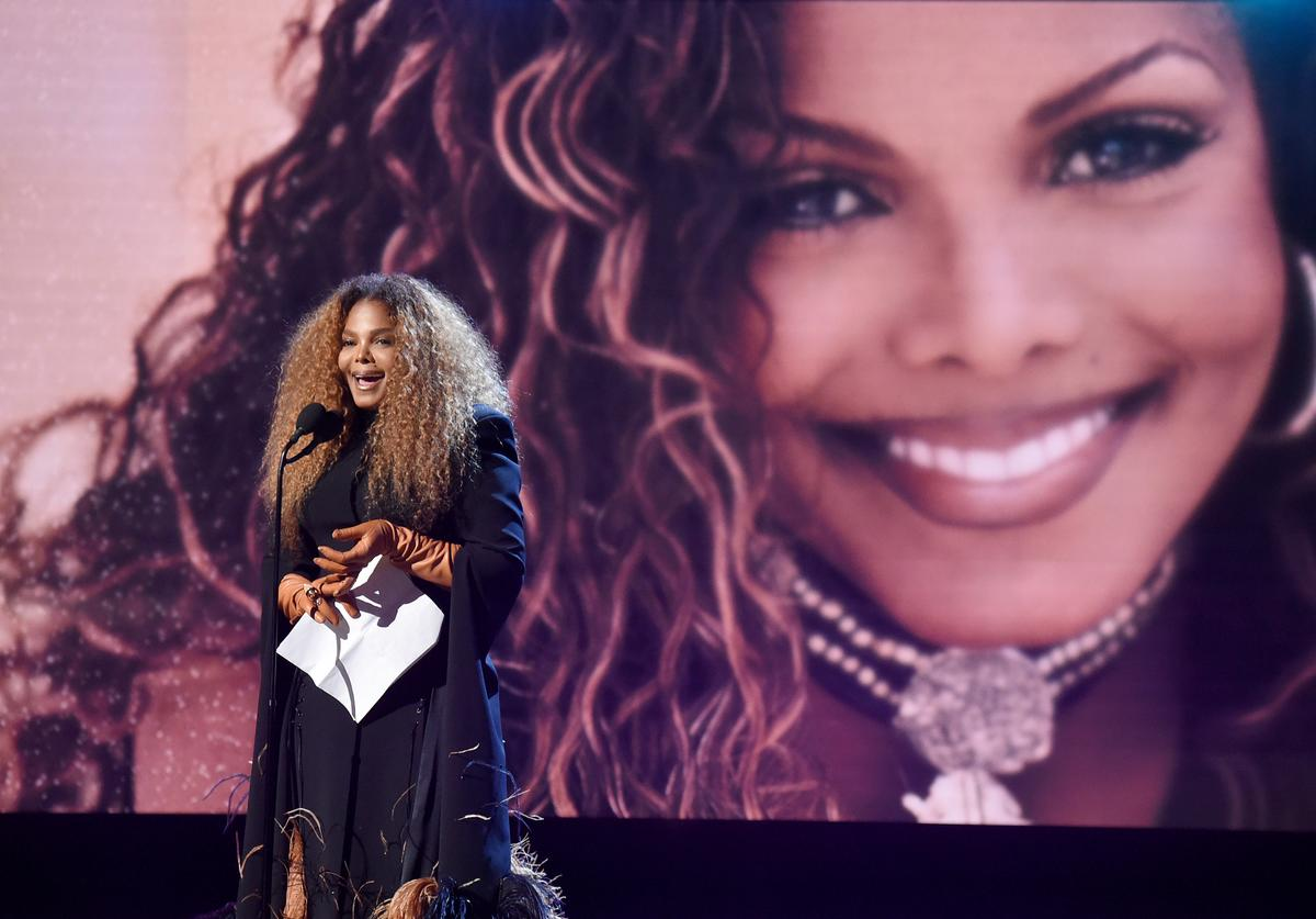 Inductee Janet Jackson speaks onstage during the 2019 Rock & Roll Hall Of Fame Induction Ceremony