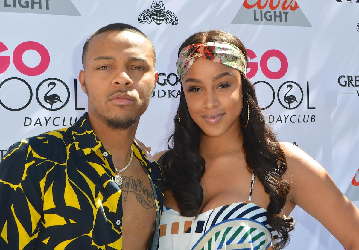 """Shad """"Bow Wow"""" Moss (L) and model Kiyomi Leslie arrive at the Flamingo Go Pool Dayclub at Flamingo Las Vegas on June 23, 2018 in Las Vegas, Nevada"""