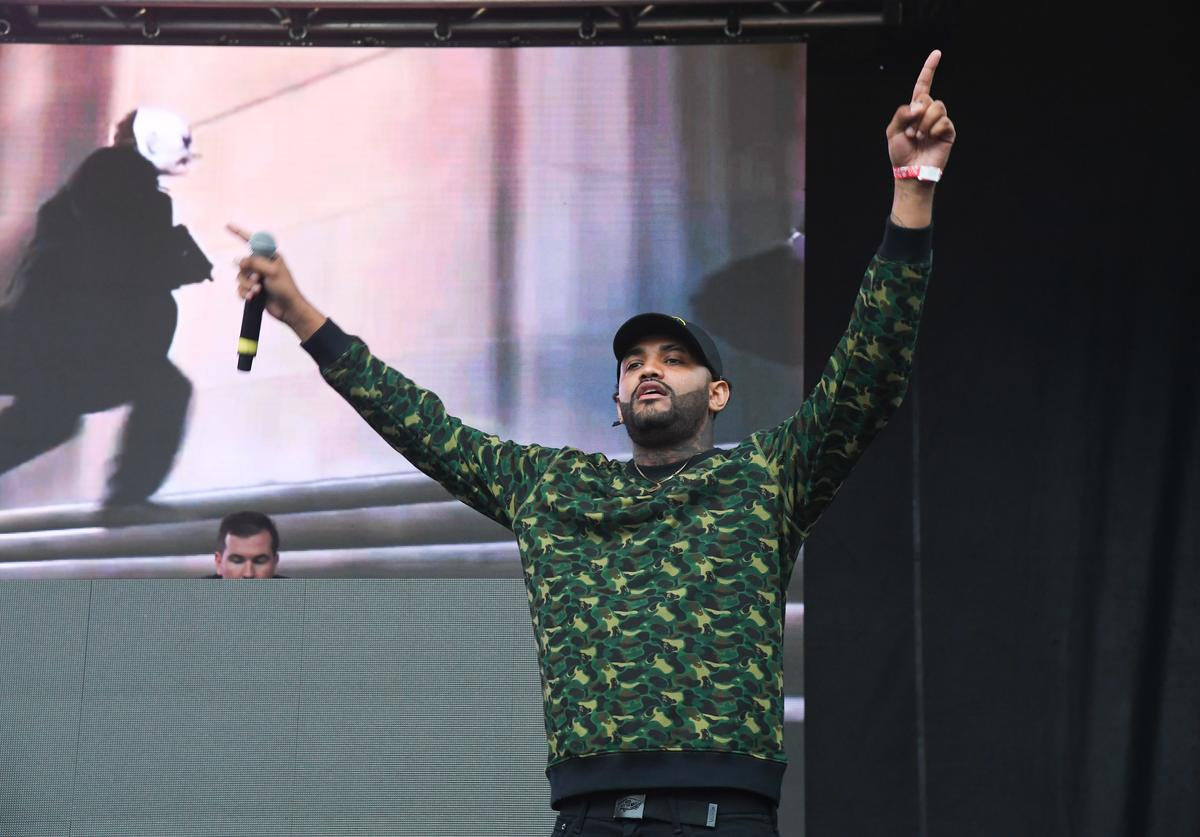 Joyner Lucas performs onstage in concert during 2017 A3C Festival at Georgia Freight Depot on October 8, 2017 in Atlanta, Georgia