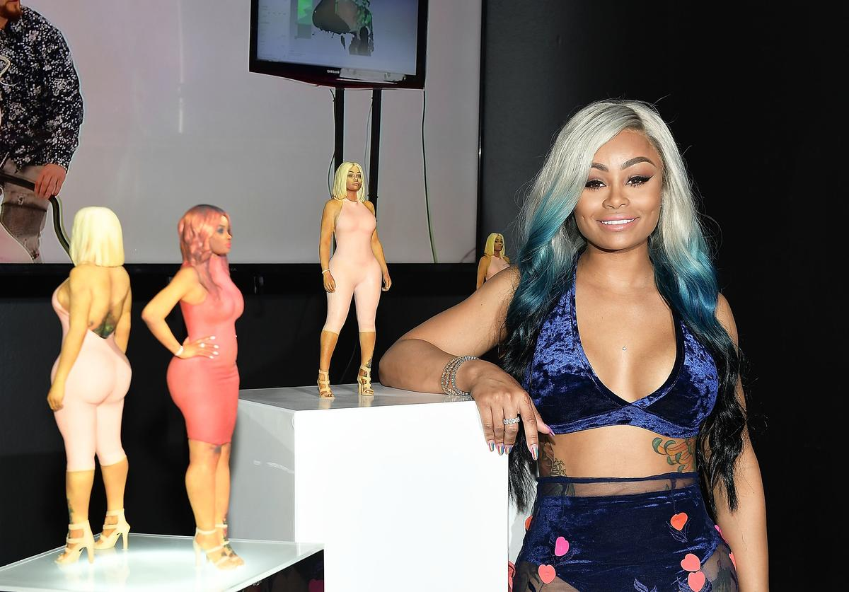 Blac Chyna attends her figurine dolls launch on August 17, 2017