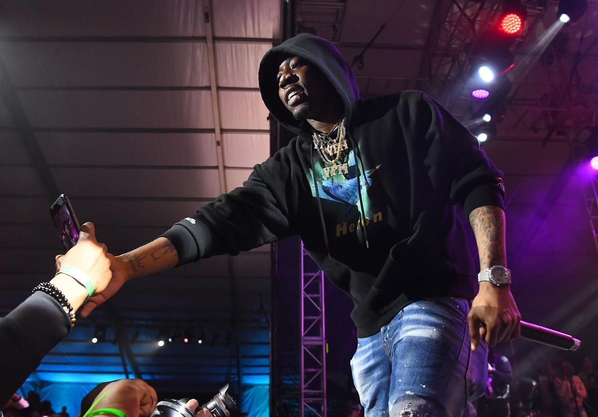YFN Lucci performs in concert during 2019 Super Bowl Live at Centennial Olympic Park on January 28, 2019 in Atlanta, Georgia