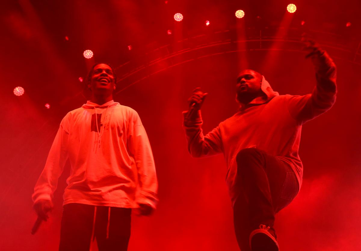 ASAP Rocky (L) and ScHoolboy Q perform onstage at night three of the STAPLES Center Concert, sponsored by Sprite, during the 2017 BET Experience at Staples Center on June 24, 2017 in Los Angeles, California