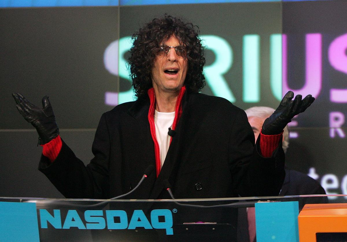 Radio personality Howard Stern presides over the NASDAQ opening bell January 3, 2006 in New York City. Stern will begin his new show on the Sirius satellite radio network January 9th.