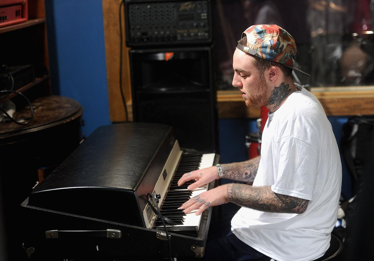 """MAC Miller performs during Behind The Scenes With MAC Miller Filming Music Choice's """"Take Back Your Music"""" Campaign at Music Choice on July 17, 2013 in New York City."""