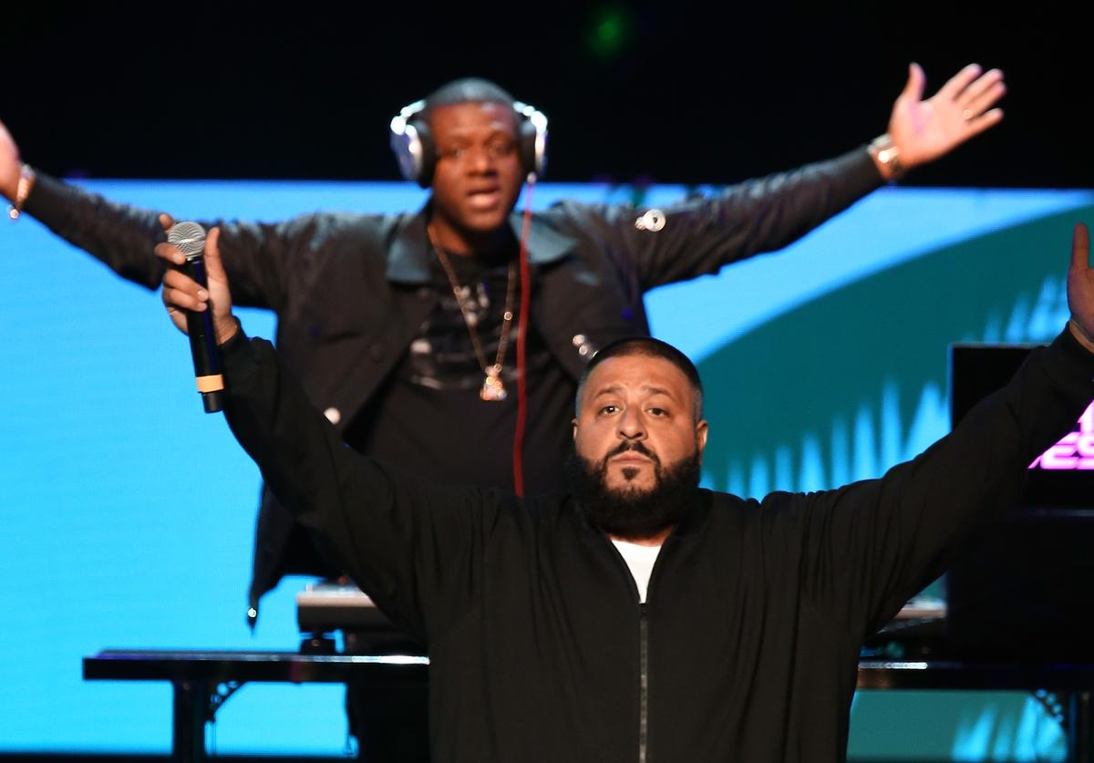 DJ Khaled performs onstage during the AHF World AIDS DAY Concert and 30th Anniversary Celebration featuring Mariah Carey and DJ Khaled at the Shrine Auditorium on November 30, 2017 in Los Angeles, California.