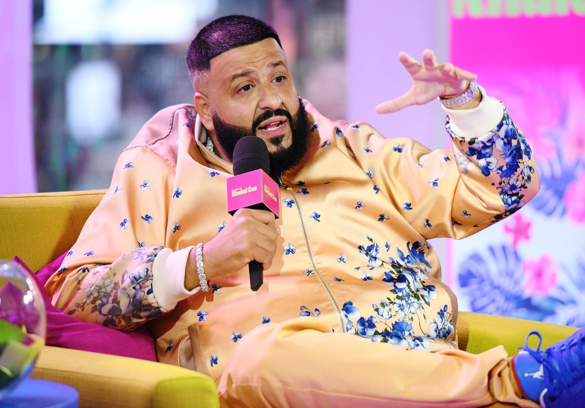 """DJ Khaled is interviewed as """"MTV Presents: Khaled Con,"""" a DJ Khaled-hosted fan event in MTV's Times Square Studio, celebrating the release of """"Father Of Asahd"""" at MTV Studios on May 17, 2019 in New York City."""