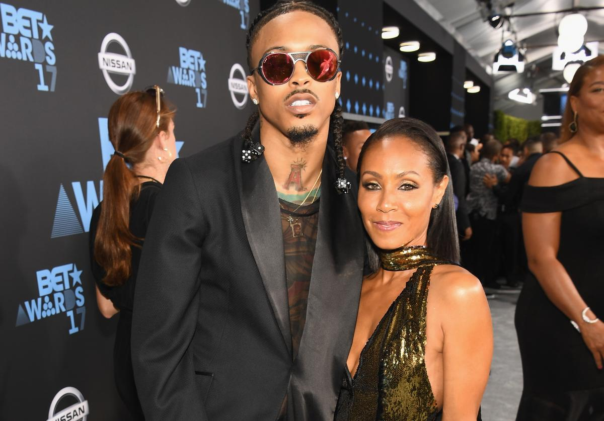 August Alsina (L) and Jada Pinkett Smith at the 2017 BET Awards at Staples Cente