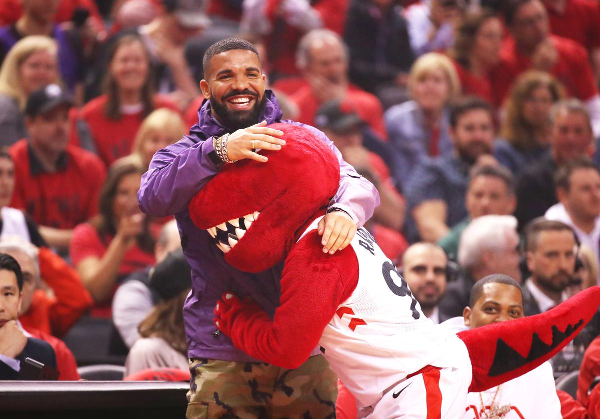 Rapper Drake attends game three of the NBA Eastern Conference Finals between the Milwaukee Bucks and the Toronto Raptors