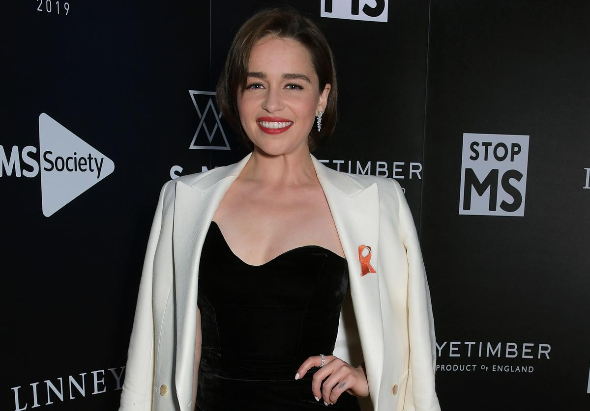 Emilia Clarke attends the SMS Battles Quiz for The MS Society, raising vital funds for Multiple Sclerosis research