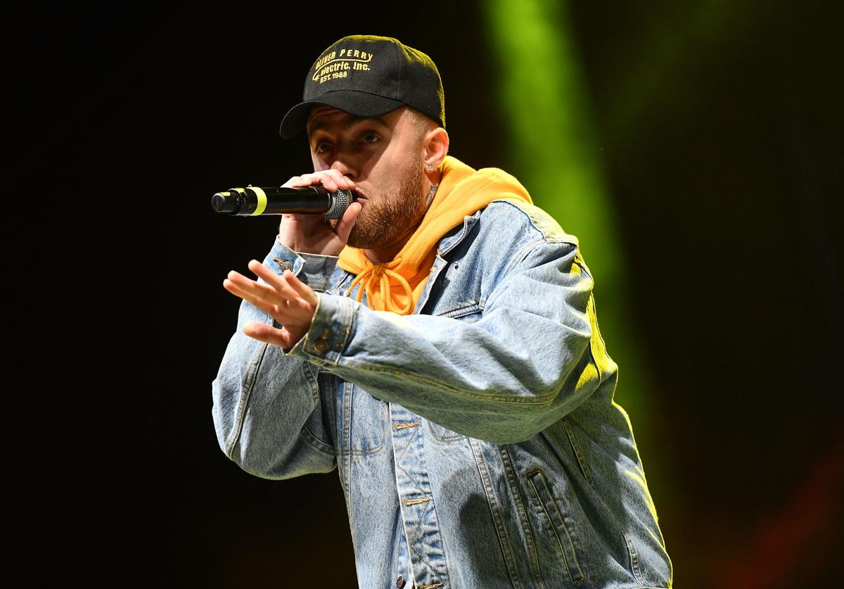 Mac Miller performs onstage during the Smokers Club Festival at The Queen Mary on April 29, 2018 in Long Beach, California