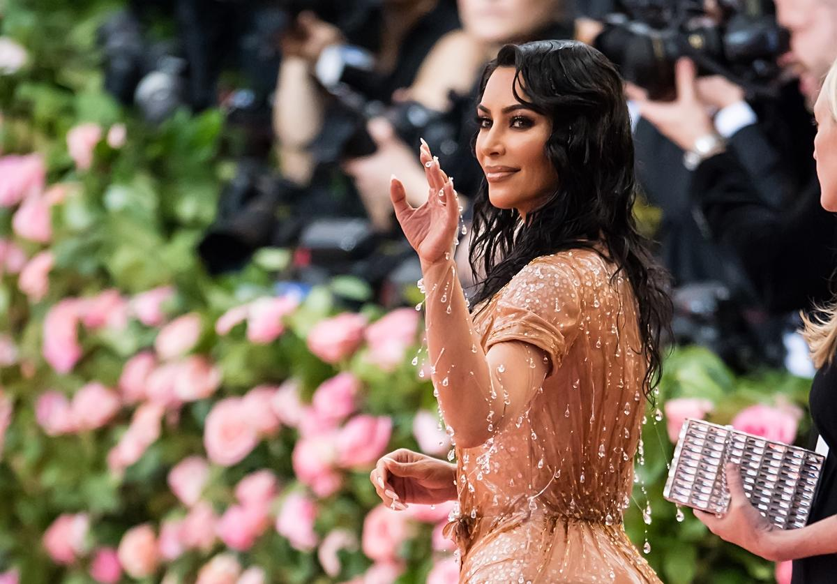 Kim Kardashian West is seen arriving to the 2019 Met Gala Celebrating Camp: Notes on Fashion at The Metropolitan Museum of Art on May 6, 2019 in New York City
