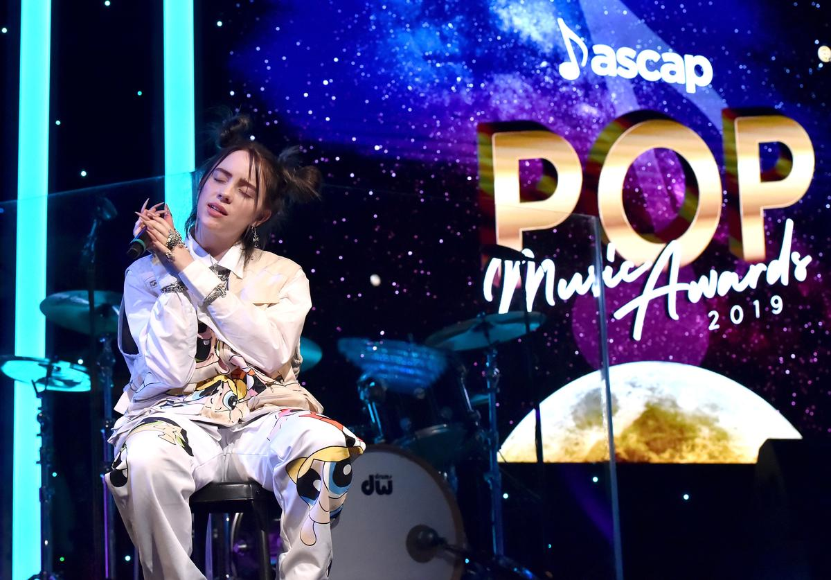 Billie Eilish performs onstage during the ASCAP 2019 Pop Music Awards